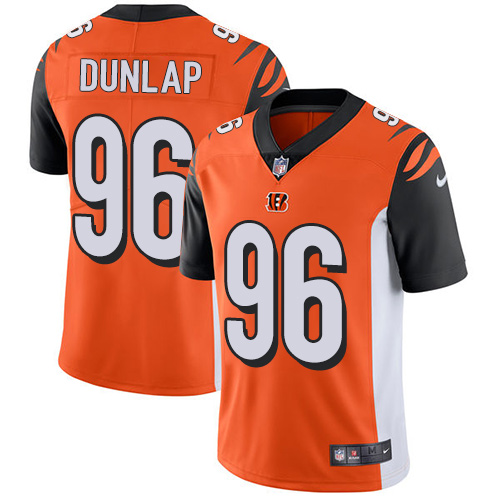 2019 men Cincinnati Bengals 96 Dunlap orange Nike Vapor Untouchable Limited NFL Jersey