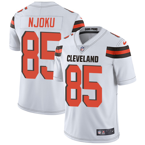 2019 men Cleveland Browns 85 Njoku white Nike Vapor Untouchable Limited NFL Jersey