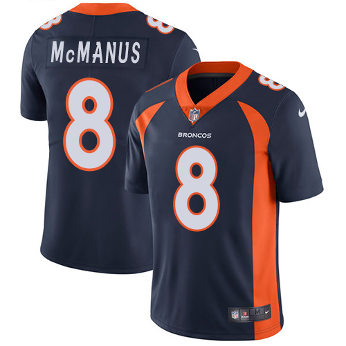 2019 men Denver Broncos 8 McManus blue Nike Vapor Untouchable Limited NFL Jersey