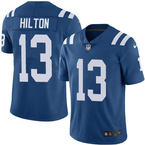 2019 men Indianapolis Colts 13 Hilton blue Nike Vapor Untouchable Limited NFL Jersey