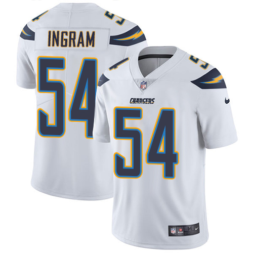 2019 men Los Angeles Chargers 54 Ingram white Nike Vapor Untouchable Limited NFL Jersey