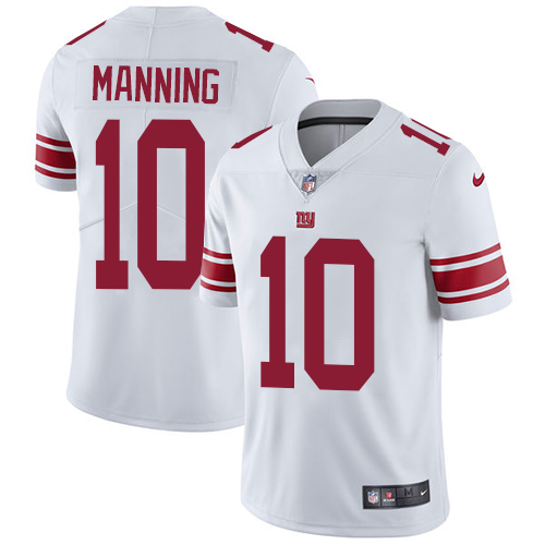 2019 men New York Giants 10 Manning white Nike Vapor Untouchable Limited NFL Jersey