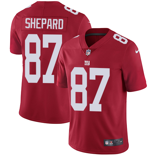 2019 men New York Giants 87 Shepard red Nike Vapor Untouchable Limited NFL Jersey