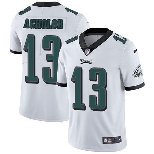 2019 men Philadelphia Eagles 13 Agholor white Nike Vapor Untouchable Limited NFL Jersey