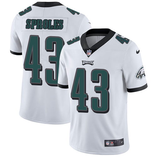2019 men Philadelphia Eagles 43 Sproles white Nike Vapor Untouchable Limited NFL Jersey