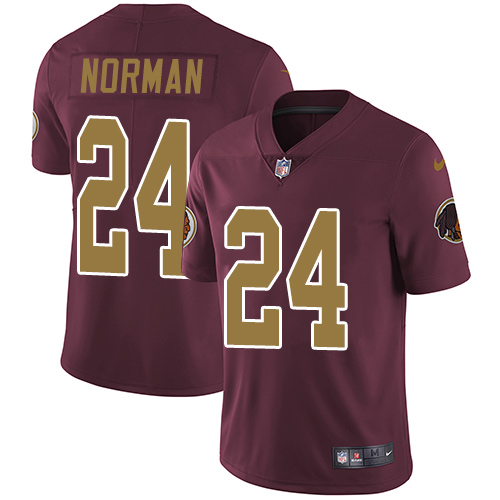 2019 men Washington Redskins 24 Norman red Nike Vapor Untouchable Limited NFL Jersey style 2