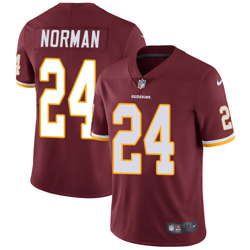 2019 men Washington Redskins 24 Norman red Nike Vapor Untouchable Limited NFL Jersey