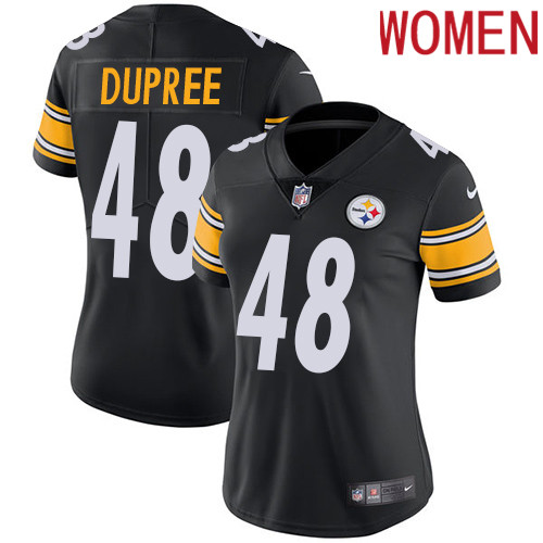 2019 women Pittsburgh Steelers 48 Dupree black Nike Vapor Untouchable Limited NFL Jersey