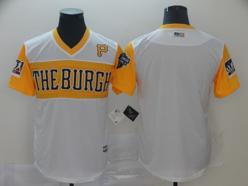Customized Men Pittsburgh Pirates blank white yellow MLB Jerseys