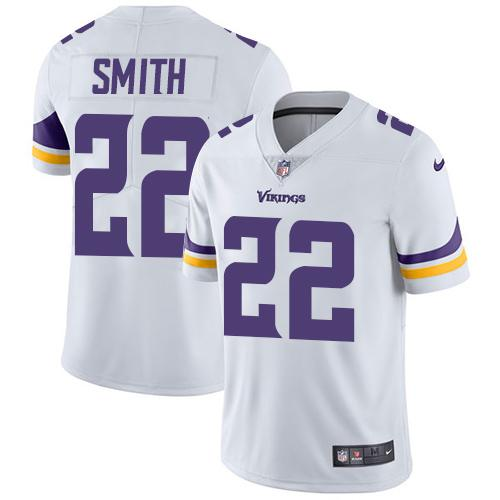 Men 2019 Minnesota Vikings 22 Smith white Nike Vapor Untouchable Limited NFL Jersey