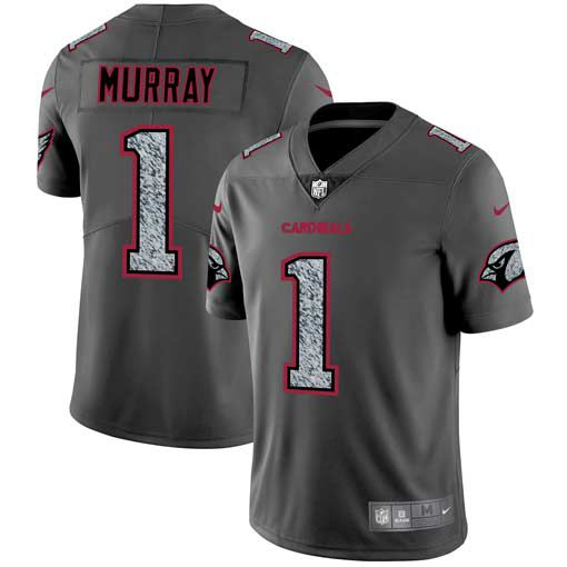 Men Arizona Cardinals 1 Murray Nike Teams Gray Fashion Static Limited NFL Jerseys