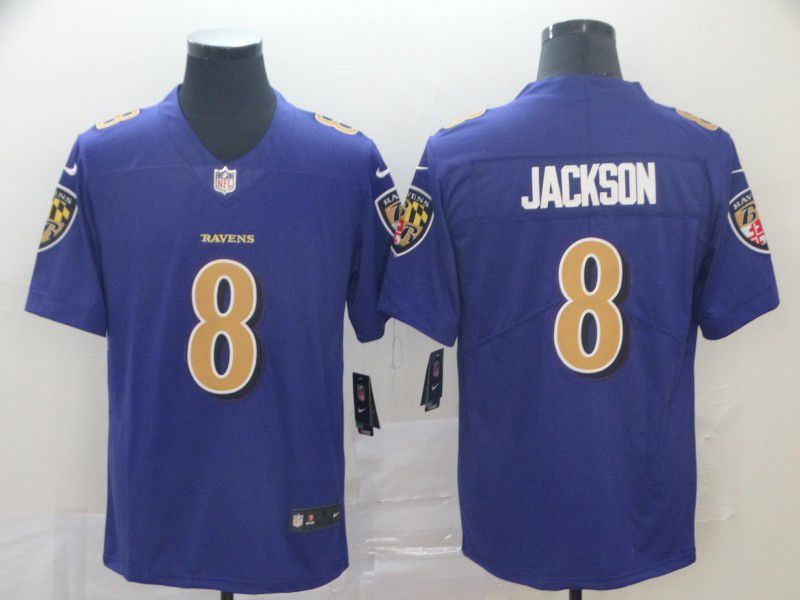 Men Baltimore Ravens 8 Jackson Purple Nike Vapor Untouchable Limited Playe NFL Jerseys