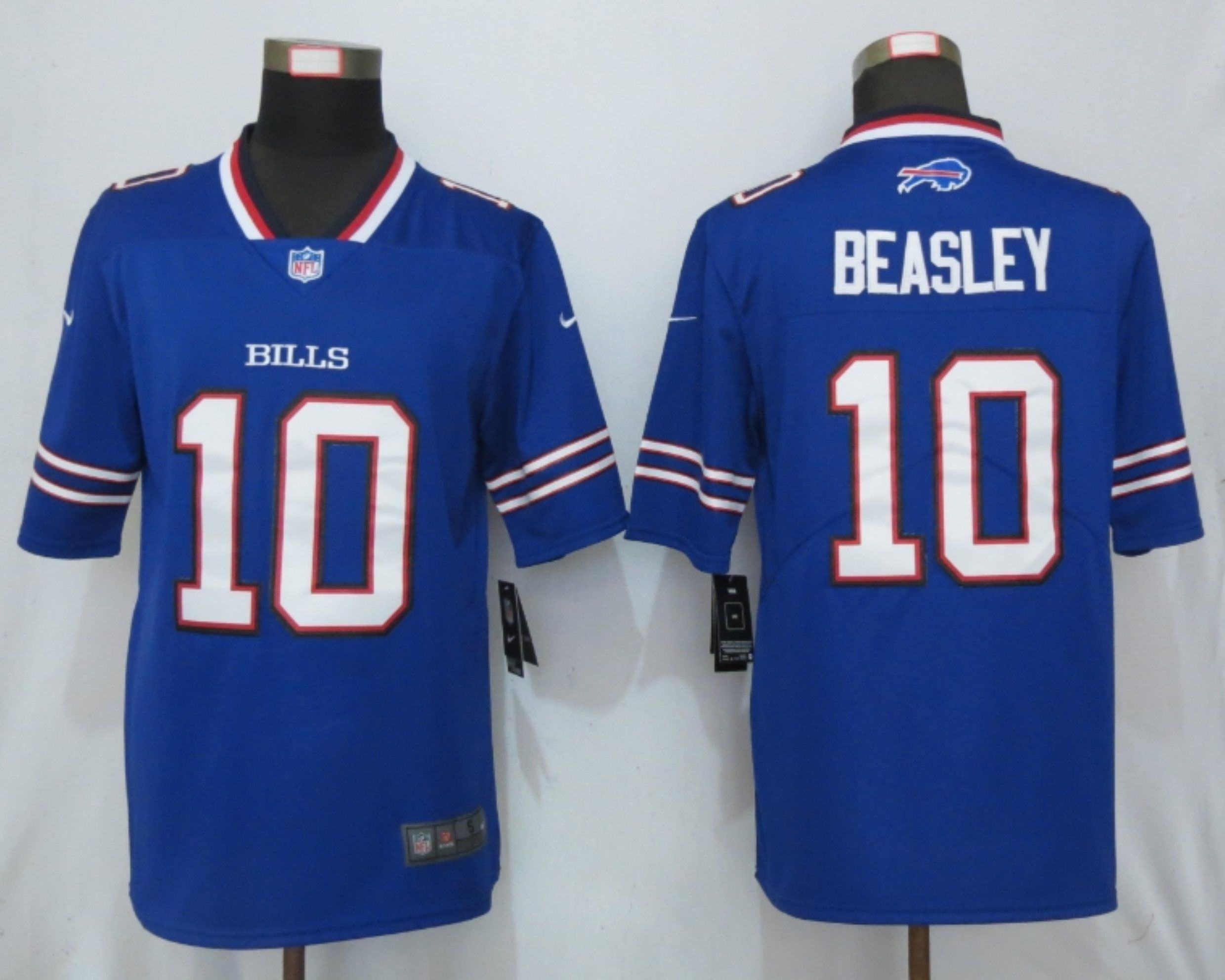 Men Buffalo Bills 10 Beasley Blue Nike Vapor Untouchable Limited Playe NFL Jerseys