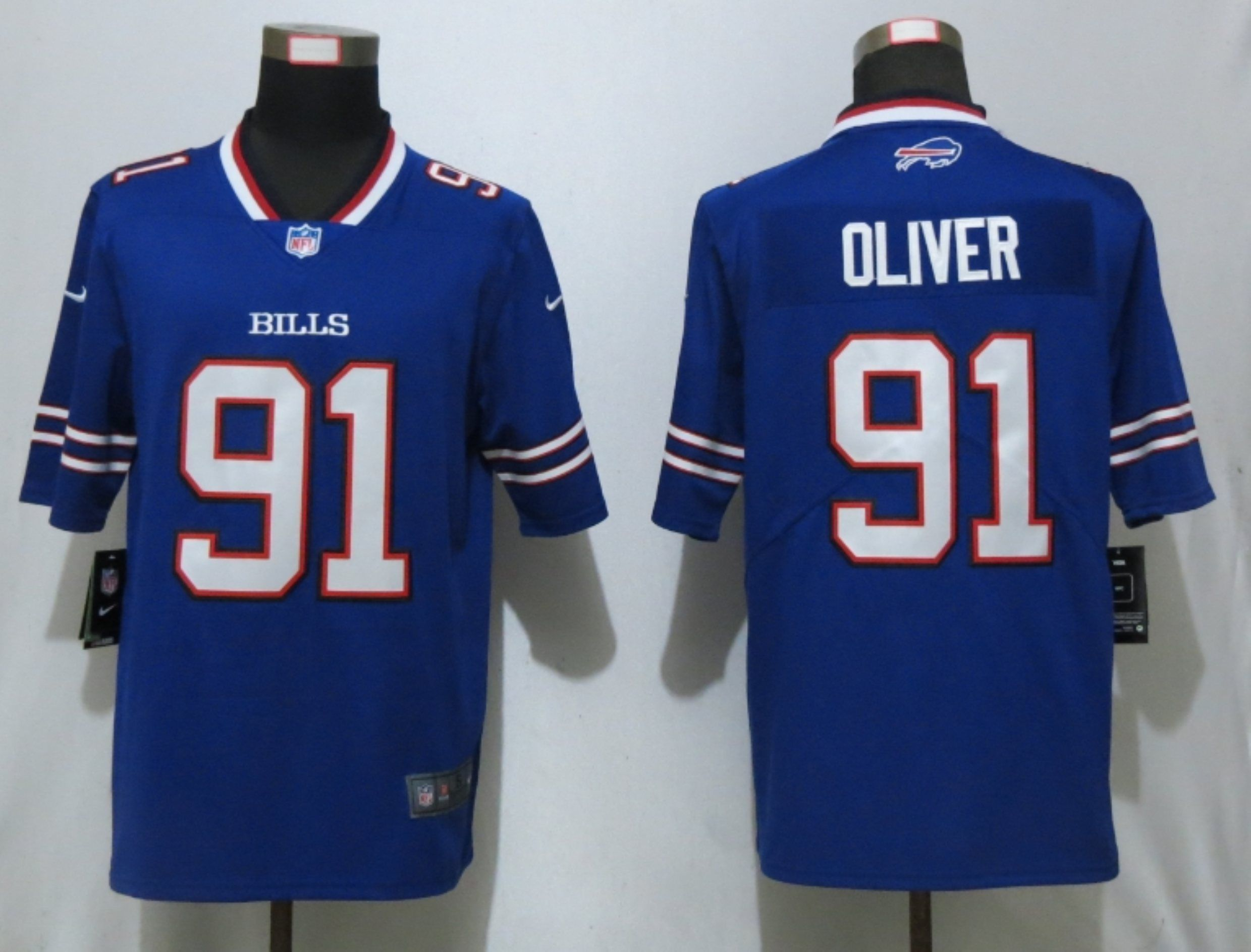 Men Buffalo Bills 91 Oliver Blue Nike Vapor Untouchable Limited Playe NFL Jerseys