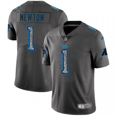Men Carolina Panthers 1 Newton Nike Teams Gray Fashion Static Limited NFL Jerseys