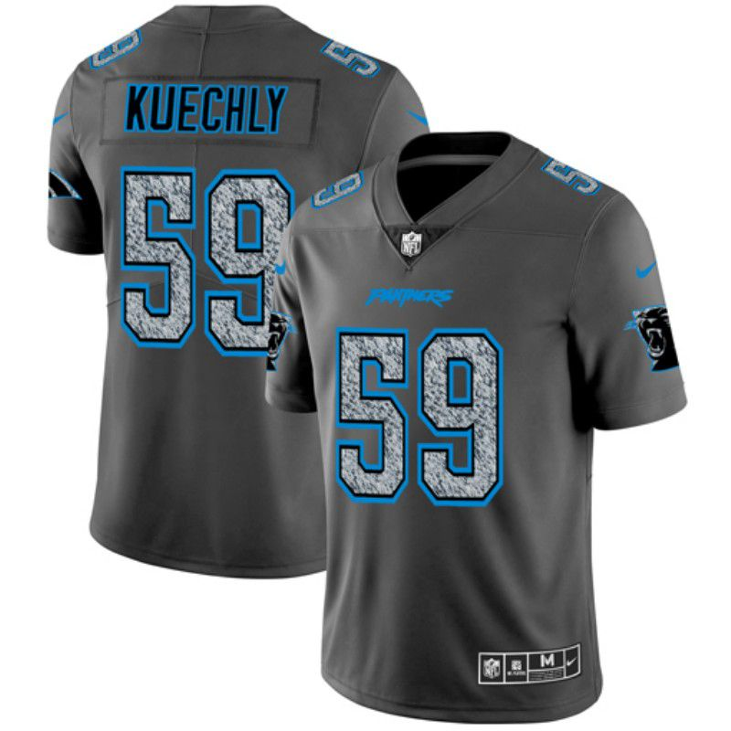 Men Carolina Panthers 59 Kuechly Nike Teams Gray Fashion Static Limited NFL Jerseys