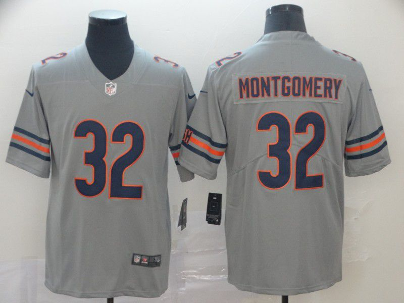 Men Chicago Bears 32 Montgomery Grey Nike Vapor Untouchable Limited NFL Jersey
