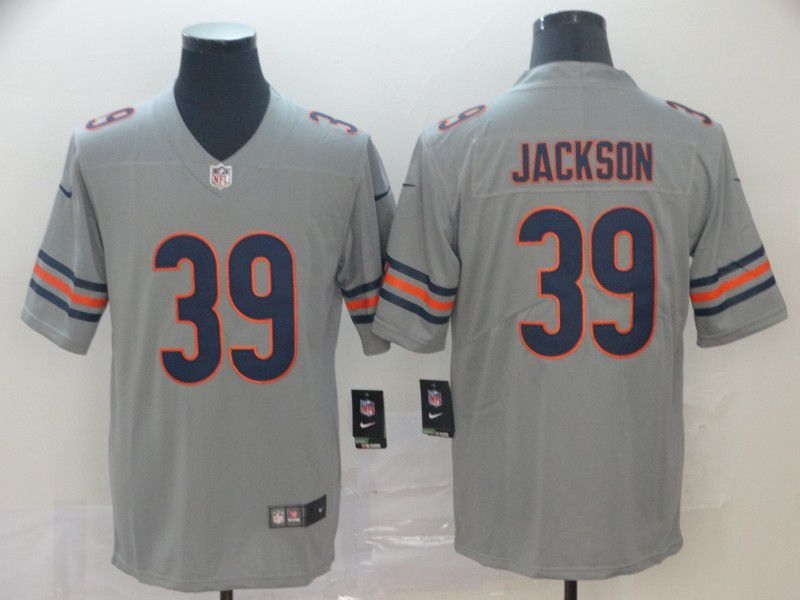 Men Chicago Bears 39 Jackson Grey Nike Vapor Untouchable Limited NFL Jersey