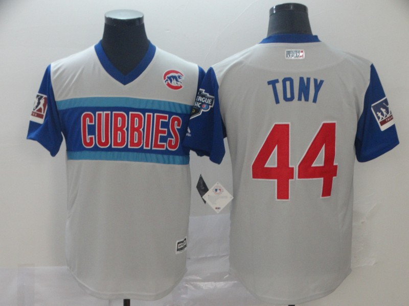 Men Chicago Cubs 44 Tony white blue throwback MLB Jerseys