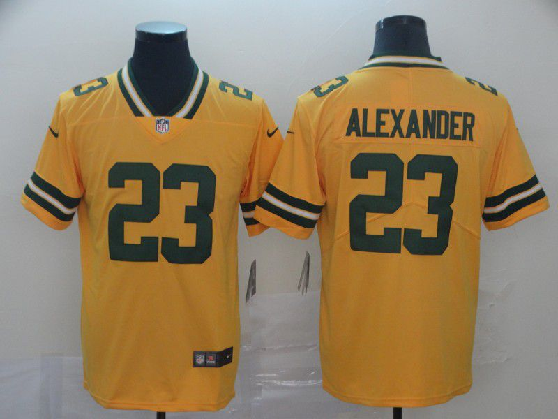 Men Green Bay Packers 23 Alexander Yellow Nike Vapor Untouchable Limited NFL Jersey