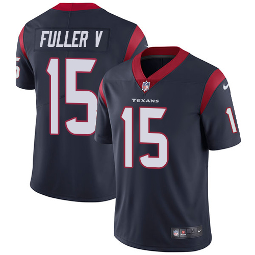 Men Houston Texans 15 Fuller V blue Nike Vapor Untouchable Limited NFL Jersey