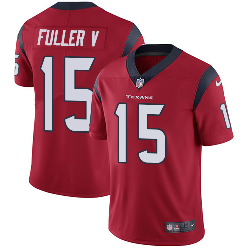 Men Houston Texans 15 Fuller V red Nike Vapor Untouchable Limited NFL Jersey