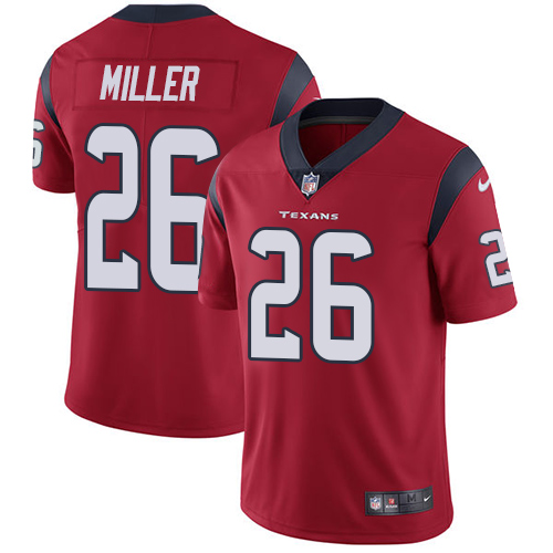 Men Houston Texans 26 Miller RED Nike Vapor Untouchable Limited NFL Jersey