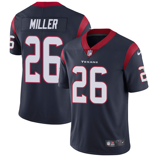 Men Houston Texans 26 Miller blue Nike Vapor Untouchable Limited NFL Jersey