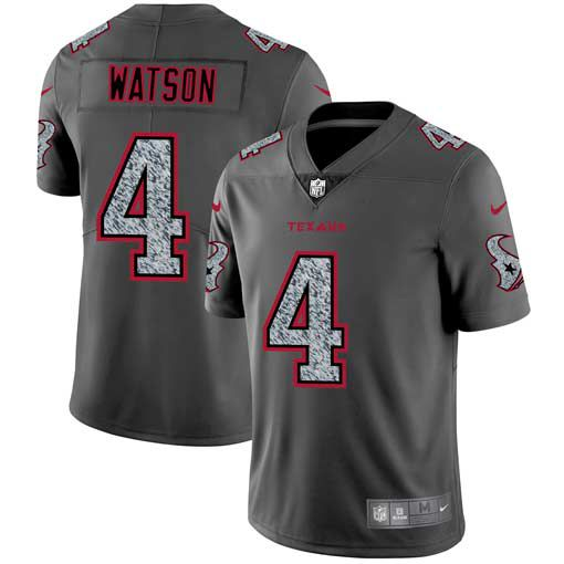 Men Houston Texans 4 Watson Nike Teams Gray Fashion Static Limited NFL Jerseys