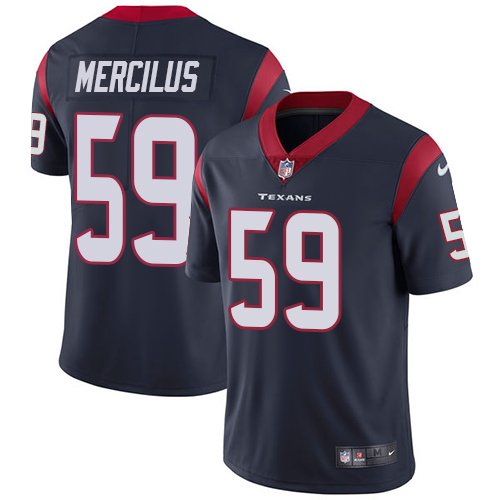 Men Houston Texans 59 Mercilus blue Nike Vapor Untouchable Limited NFL Jersey