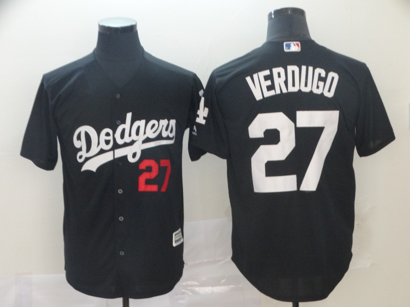 Men Los Angeles Dodgers 27 Verdugo black game MLB Jersey