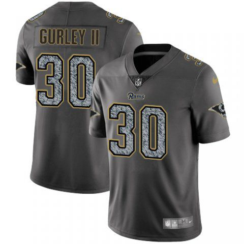 Men Los Angeles Rams 30 Gurley ii Nike Teams Gray Fashion Static Limited NFL Jerseys