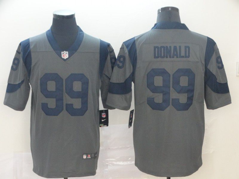 Men Los Angeles Rams 99 Donald Grey Nike Vapor Untouchable Limited NFL Jersey
