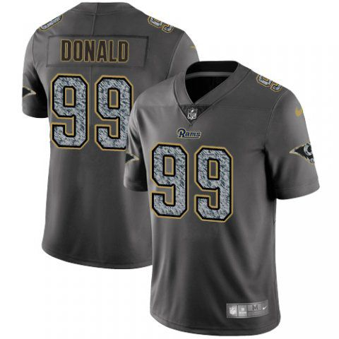 Men Los Angeles Rams 99 Donald Nike Teams Gray Fashion Static Limited NFL Jerseys