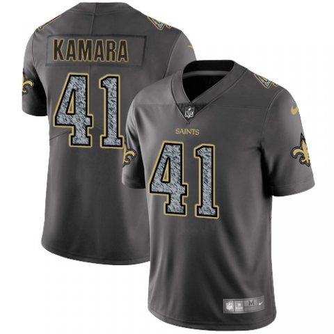 Men New Orleans Saints 41 Kamara Nike Teams Gray Fashion Static Limited NFL Jerseys