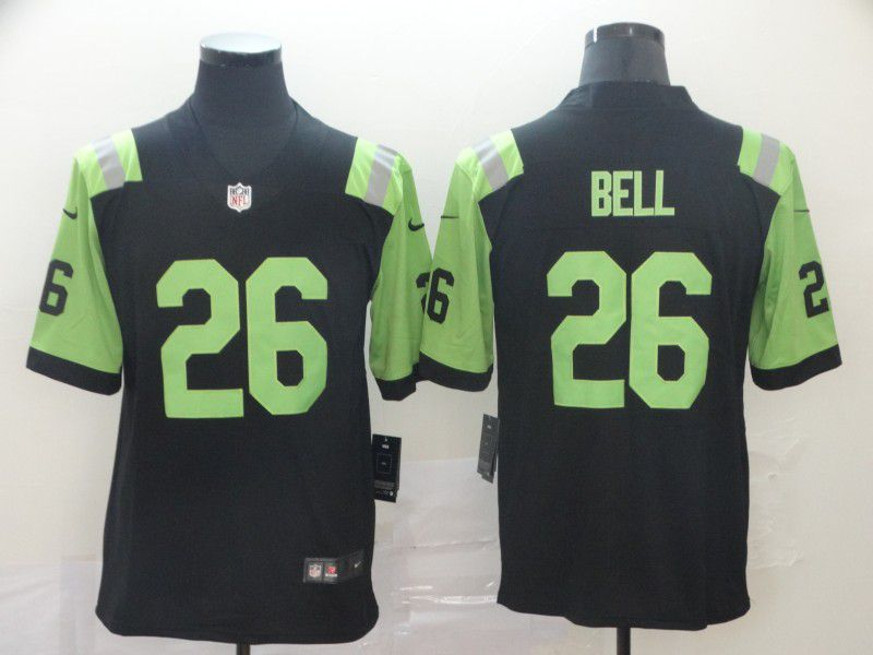 Men New York Jets 26 Bell Black Nike Vapor Limited City Edition NFL Jersey