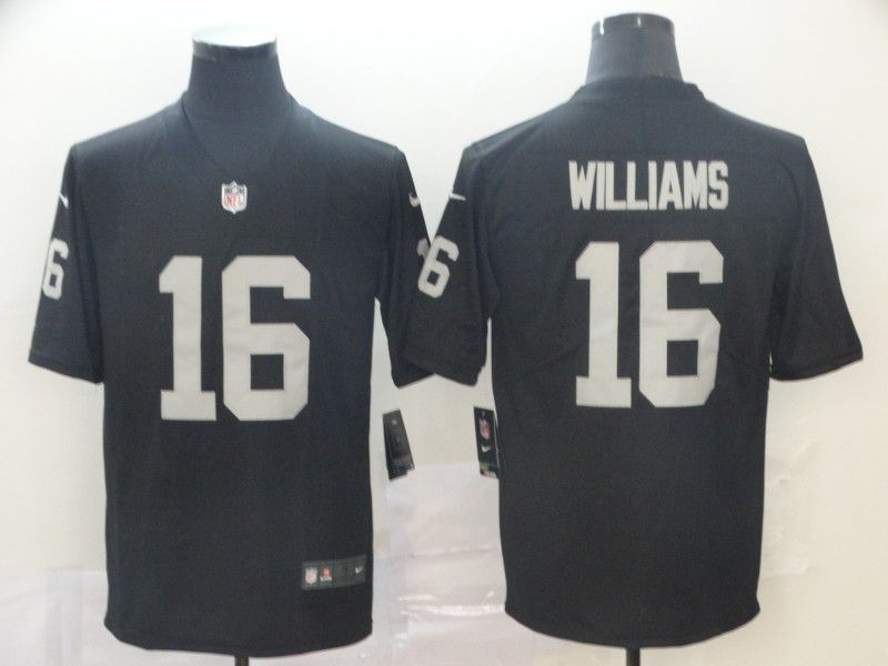 Men Oakland Raiders 16 Williams Black Nike Vapor Untouchable Limited NFL Jersey