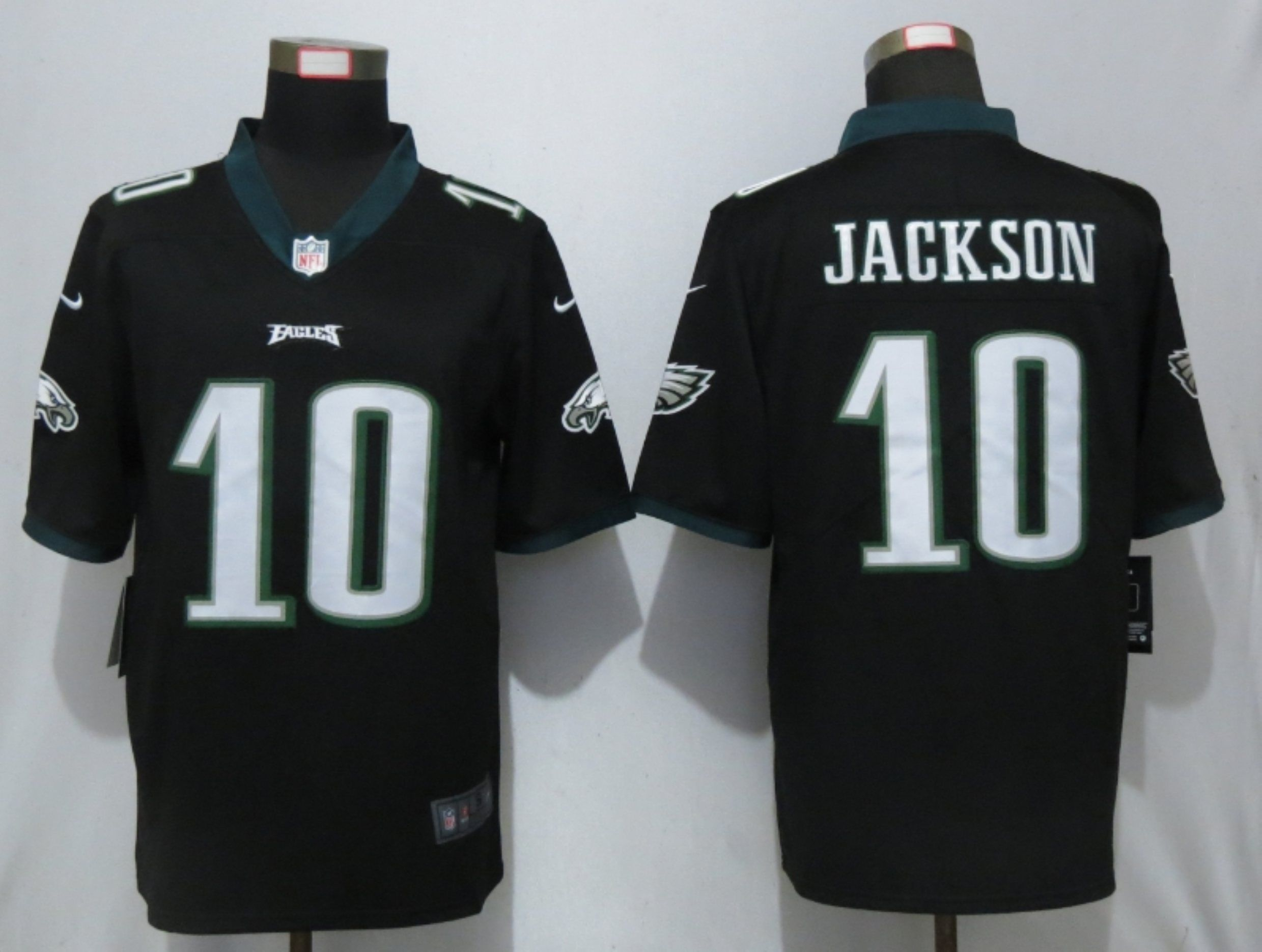 Men Philadelphia Eagles 10 Jackson Black Nike Vapor Untouchable Limited Playey NFL Jerseys