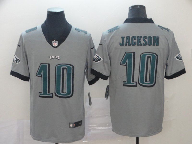 Men Philadelphia Eagles 10 Jackson Grey Nike Vapor Untouchable Limited NFL Jersey