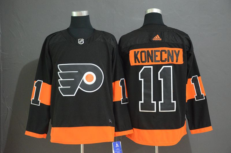 Men Philadelphia Flyers 11 Konecny Black Adidas Third Edition Adult NHL Jersey