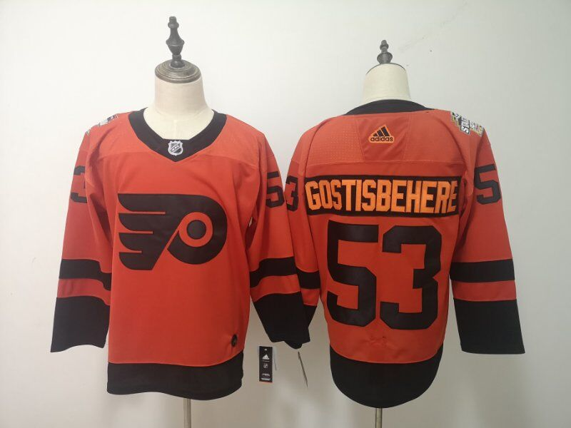 Men Philadelphia Flyers 53 Gostisbehere Adidas Third Edition Adult NHL Jersey