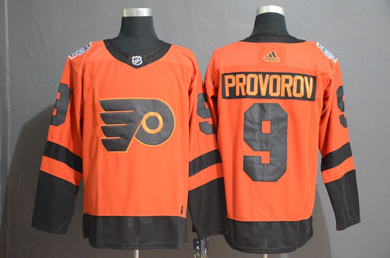 Men Philadelphia Flyers 9 Provorov Orange Adidas Third Edition Adult NHL Jersey