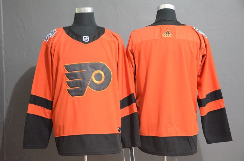Men Philadelphia Flyers Blank Orange Adidas Third Edition Adult NHL Jersey