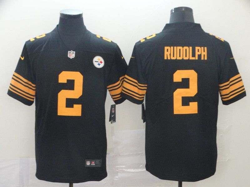 Men Pittsburgh Steelers 2 Rudolph Black Nike Vapor Untouchable Limited Playe NFL Jerseys