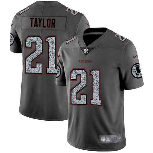 Men Washington Red Skins 21 Taylor Nike Teams Gray Fashion Static Limited NFL Jerseys