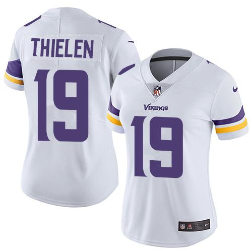 Women 2019 Minnesota Vikings 19 Thielen white Nike Vapor Untouchable Limited NFL Jersey