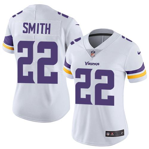 Women 2019 Minnesota Vikings 22 Smith white Nike Vapor Untouchable Limited NFL Jersey