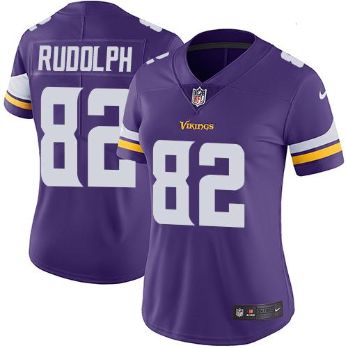 Women 2019 Minnesota Vikings 82 Rudolph purple Nike Vapor Untouchable Limited NFL Jersey