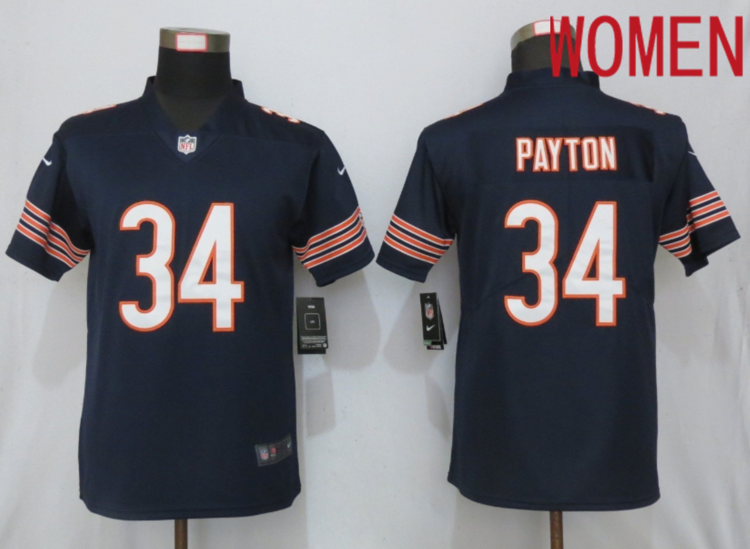 Women Chicago Bears 34 Payton Blue Nike Vapor Untouchable Player NFL Jerseys
