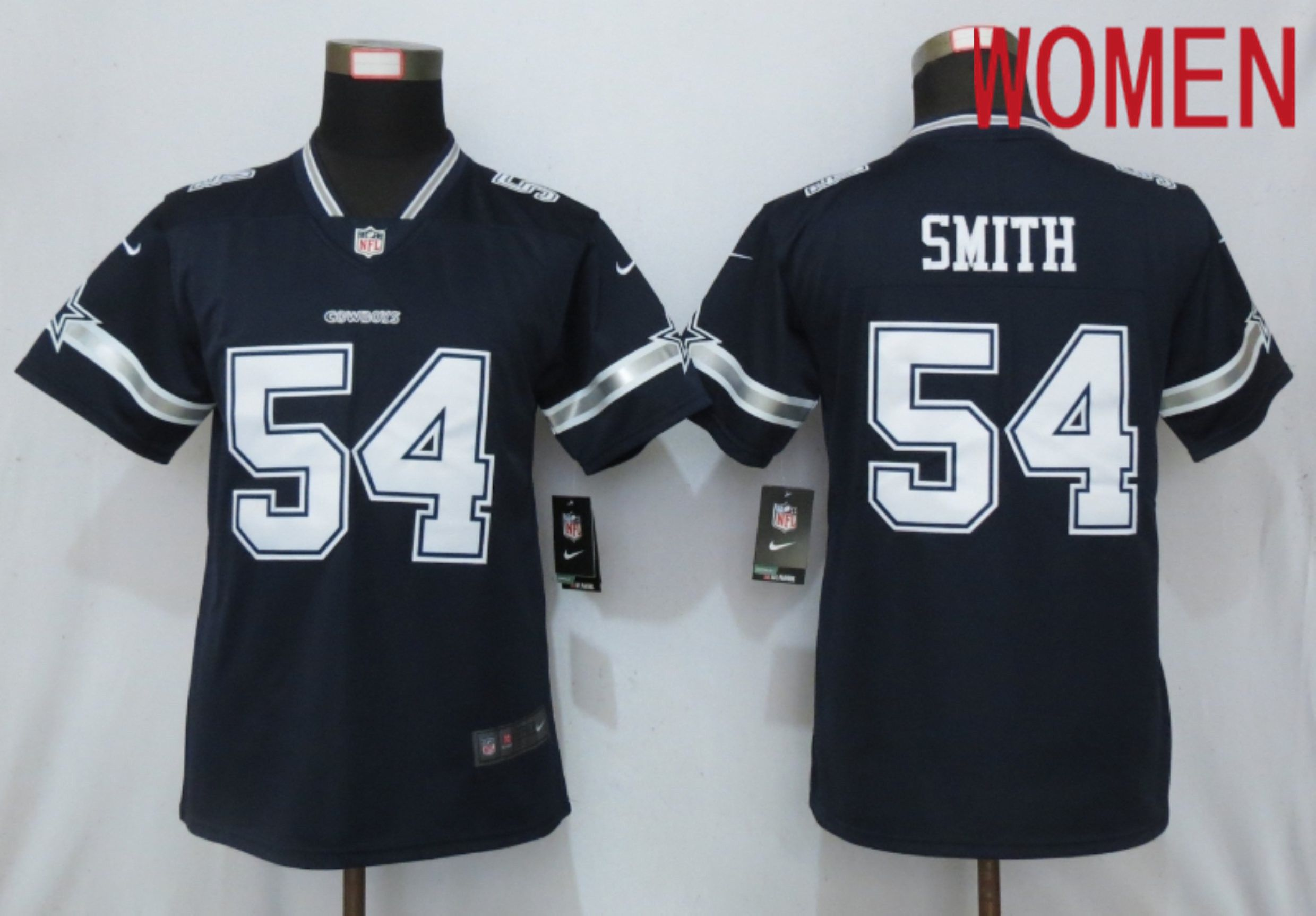 Women Dallas cowboys 54 Smith esch Blue Nike Vapor Untouchable Player NFL Jerseys